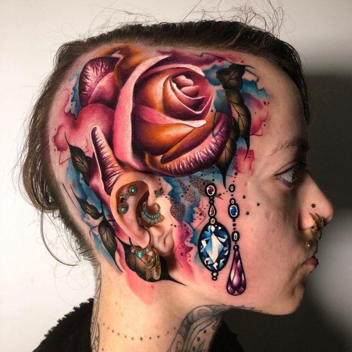41 3-100 tatouages roses pour femmes