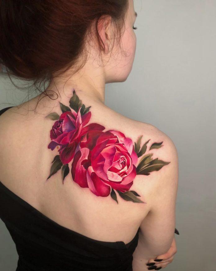 44 1-100 tatouages roses pour femmes