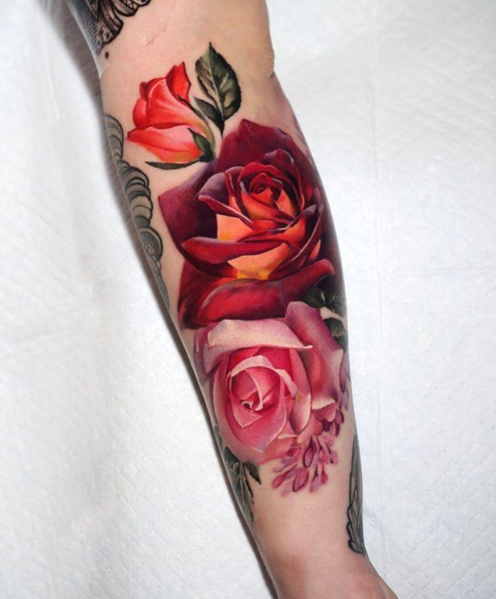 45 1-100 tatouages roses pour femmes