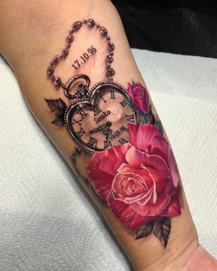 5 41-100 tatouages roses pour femmes