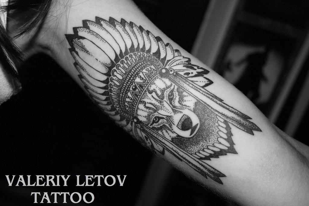 Meilleur tatouage de loup pour hurler sur la lune 38