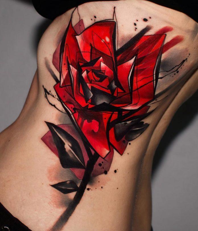 54 2-100 Tatouages Rose pour Femme