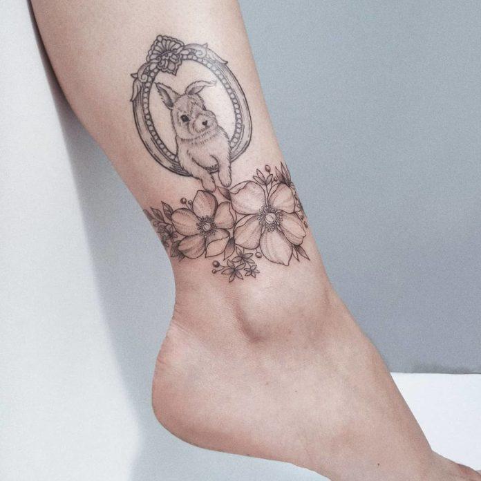55-50 tatouages à la cheville pour les femmes