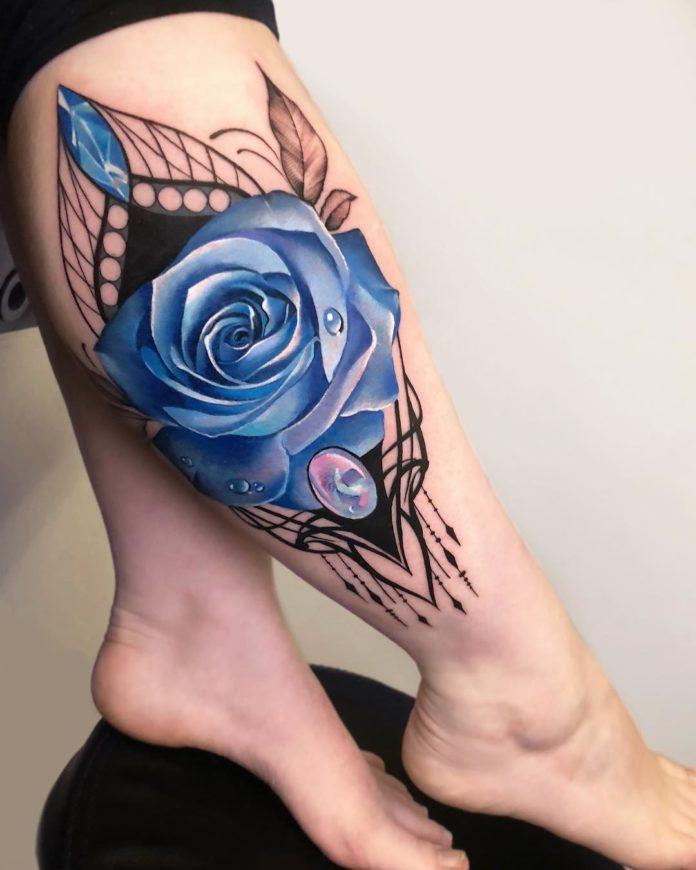 56 1 - 100 Tattoos Rose pour Femme