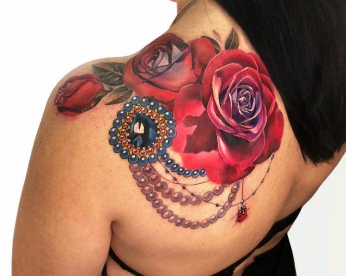 57-100 Tatouages Rose pour Femme