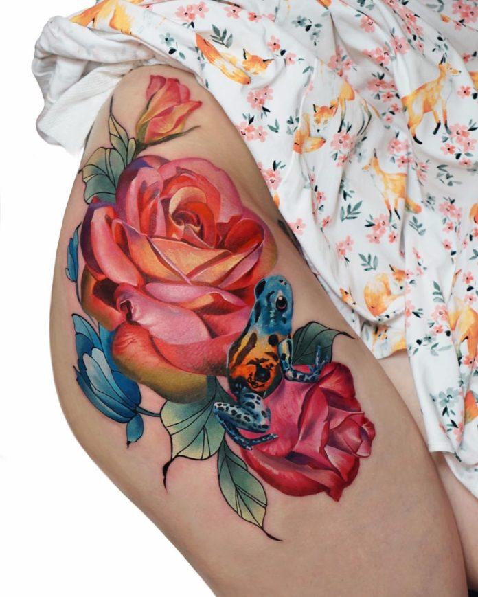 61 1 - 100 Tattoos Rose pour Femme
