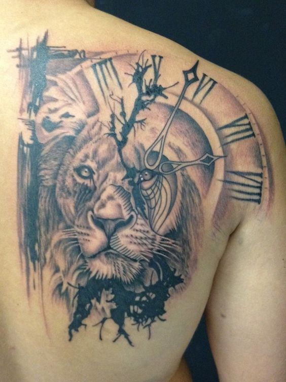 Le meilleur tatouage de lion pour vous et votre roi intérieur de la jungle! Top 151 56