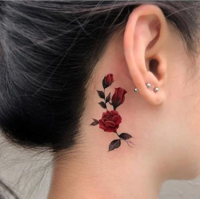 66 e1579492996571 - 100 Tatouages Rose pour Femme
