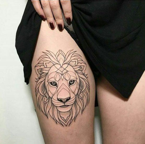 Le meilleur tatouage de lion pour vous et votre roi intérieur de la jungle! Top 151 28