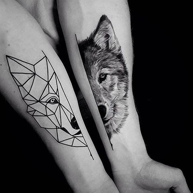 Meilleur tatouage de loup pour hurler sur la lune 56