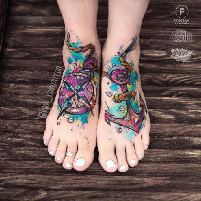 8 4 - 40 Tatouages Pied pour Femme