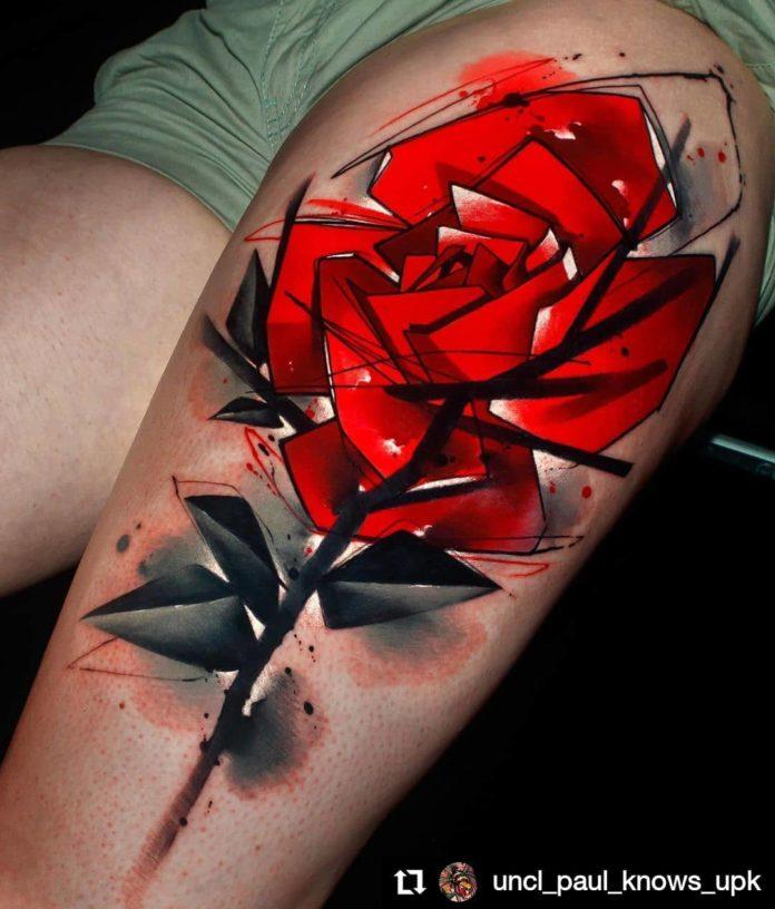86 2 - 100 Tatouages Rose pour Femme