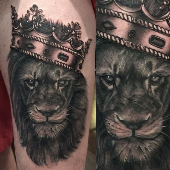 Le meilleur tatouage de lion pour vous et votre roi intérieur de la jungle! Top 151 34