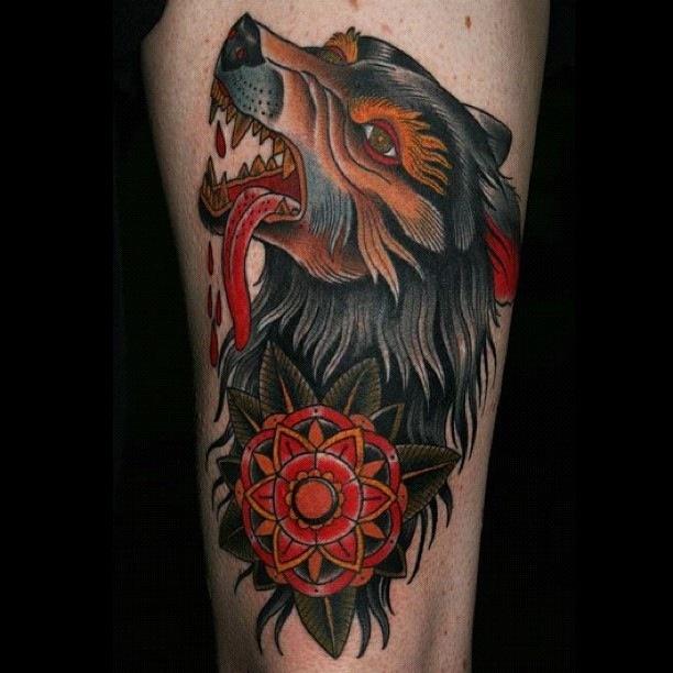 Meilleur tatouage de loup pour hurler sur la lune 54