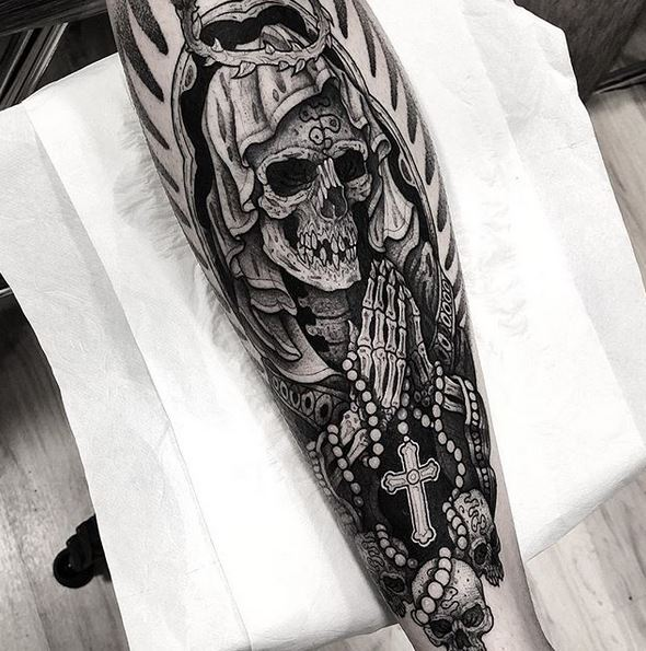 Tatouage de veau mortel