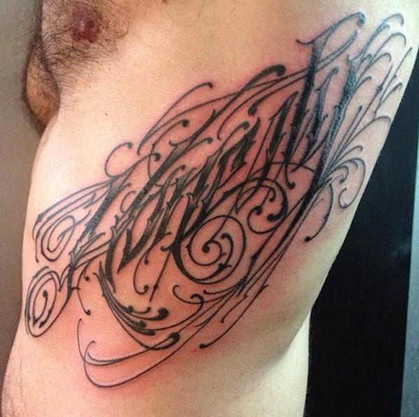 Tatouages de calligraphie JK5