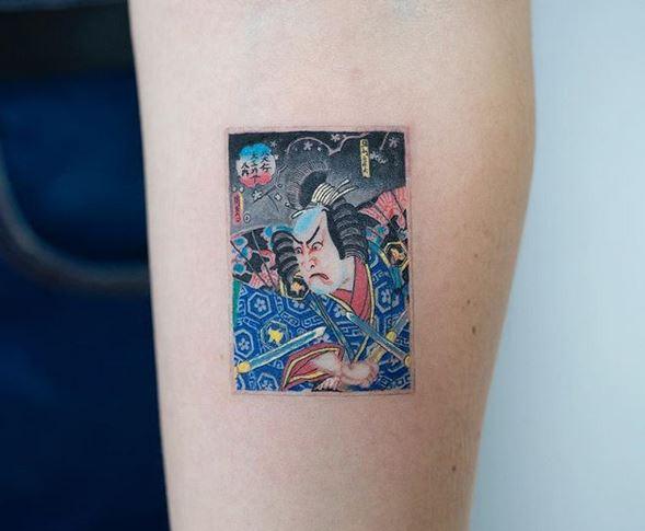Tatouage bras japonais ancien art