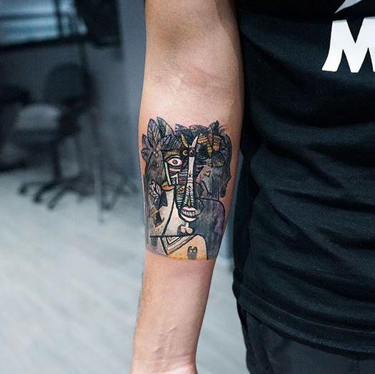 L'agneau est votre propre vie tatouage sous les bras