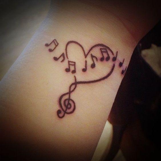 Amour pour la musique Tatouage au poignet