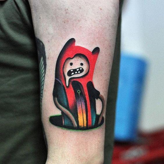 Faire fondre le tatouage de Finn Arm