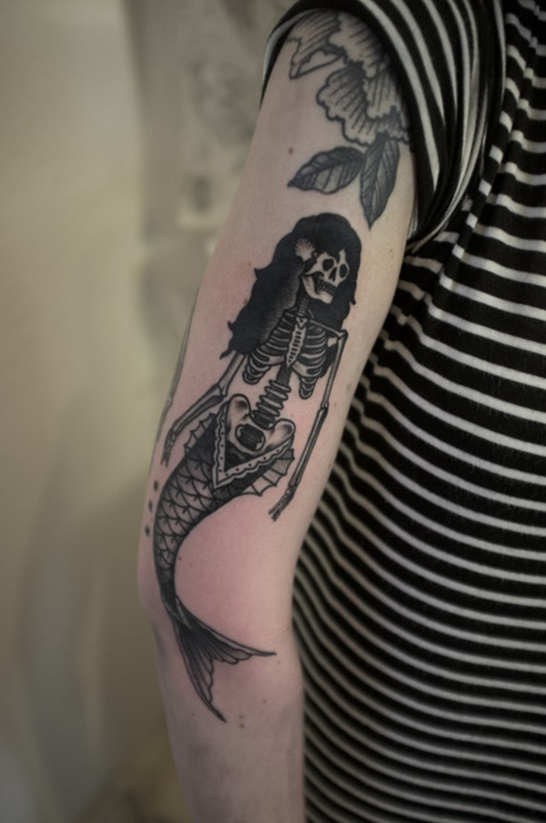 Dessins et idées de tatouage de sirène pour les filles