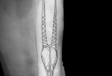 Minimalisme de niveau suivant - Mo Ganji One Line Tattoos 2