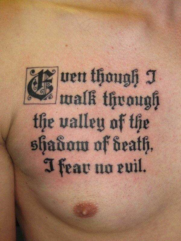 Citations de tatouage religieux