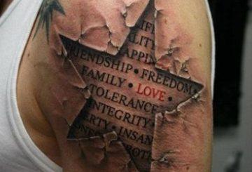 20 exemples tendances de tatouages d'étoiles 4