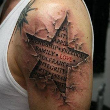 20 exemples tendances de tatouages d'étoiles 110