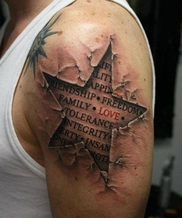 20 exemples tendances de tatouages d'étoiles 1