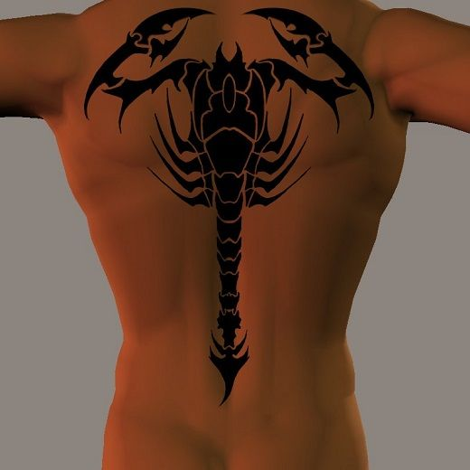 Tatouage scorpion complet