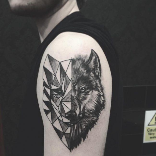 Meilleur tatouage de loup pour hurler sur la lune 86