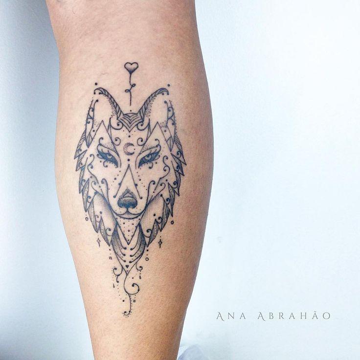 Meilleur tatouage de loup pour hurler sur la lune 30