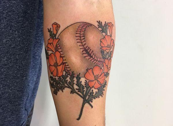 220+ meilleures conceptions de tatouage de baseball (2020) Idées liées au sport 1