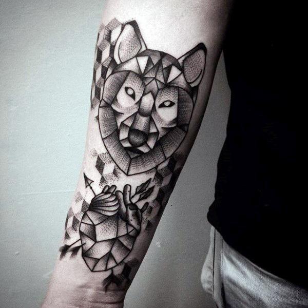 Meilleur tatouage de loup pour hurler sur la lune 26