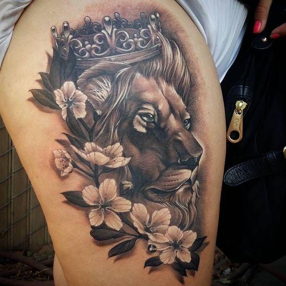 Le meilleur tatouage de lion pour vous et votre roi intérieur de la jungle! Top 151 86