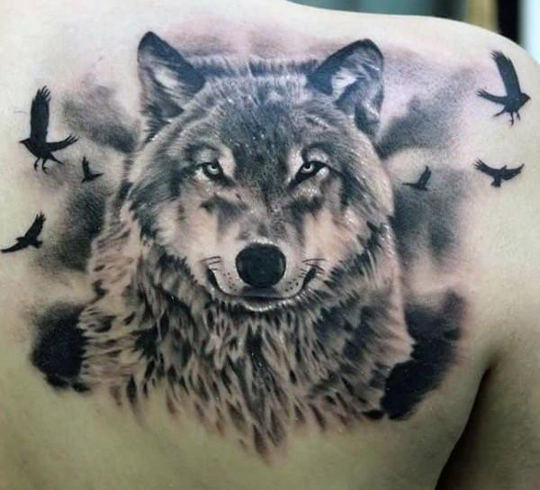 Meilleur tatouage de loup pour hurler sur la lune 22