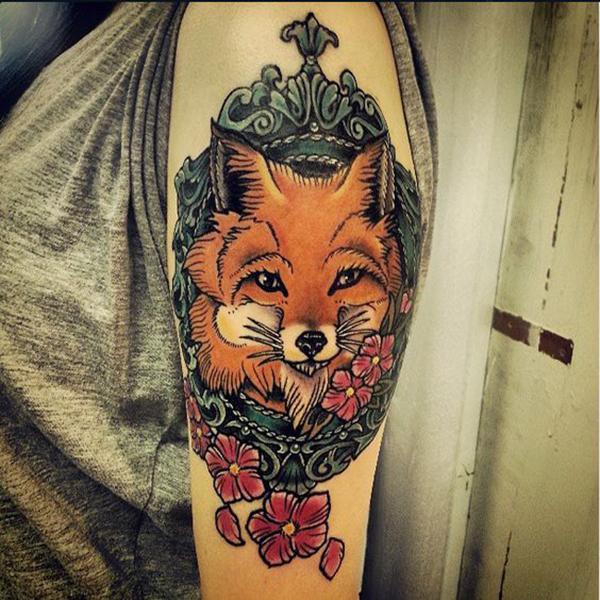 Tatouage de renard pour les filles