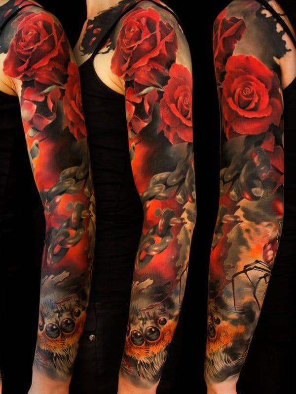 tatouages sur les manches