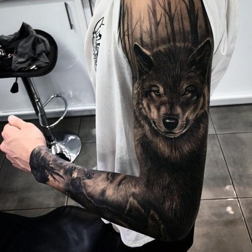 Meilleur tatouage de loup pour hurler sur la lune 6
