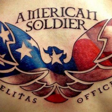 Tatouages de l'armée - Tatouages patriotiques qui vous font pleurer de fierté 9