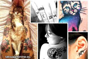 conceptions de tatouage femme chat