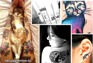 Signification et Top 60 dessins de tatouage de chat 38