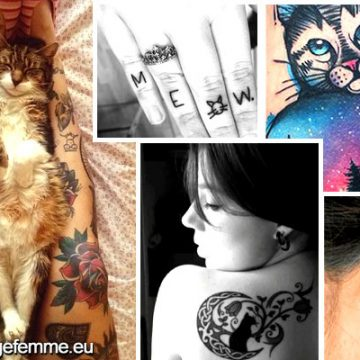 Signification et Top 60 dessins de tatouage de chat 8