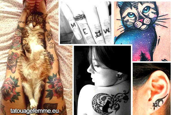 Signification et Top 60 dessins de tatouage de chat 1