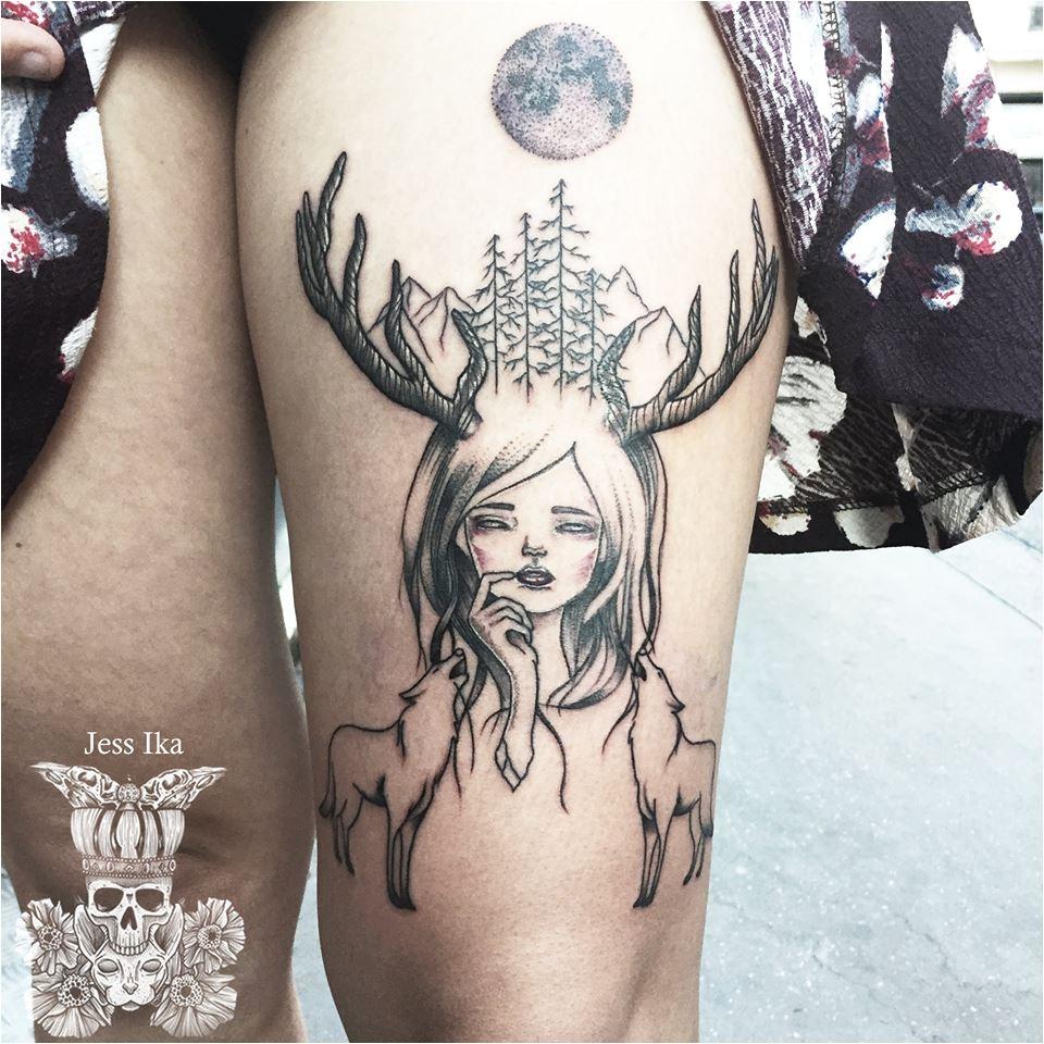 Hertentat signifie tatouage de tête de cerf - Wiki Mediwiki de ECN Medicine