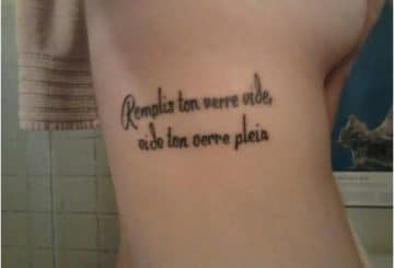 Phrase d'amour tatouage femme | acidcruetattoo 5