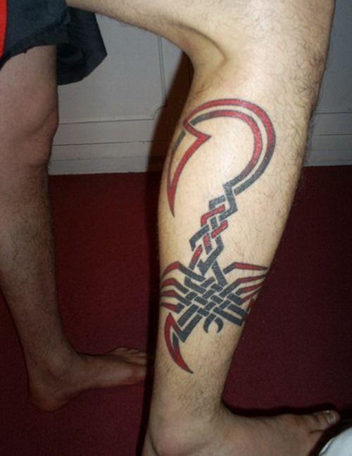Tatouage de scorpion de veau