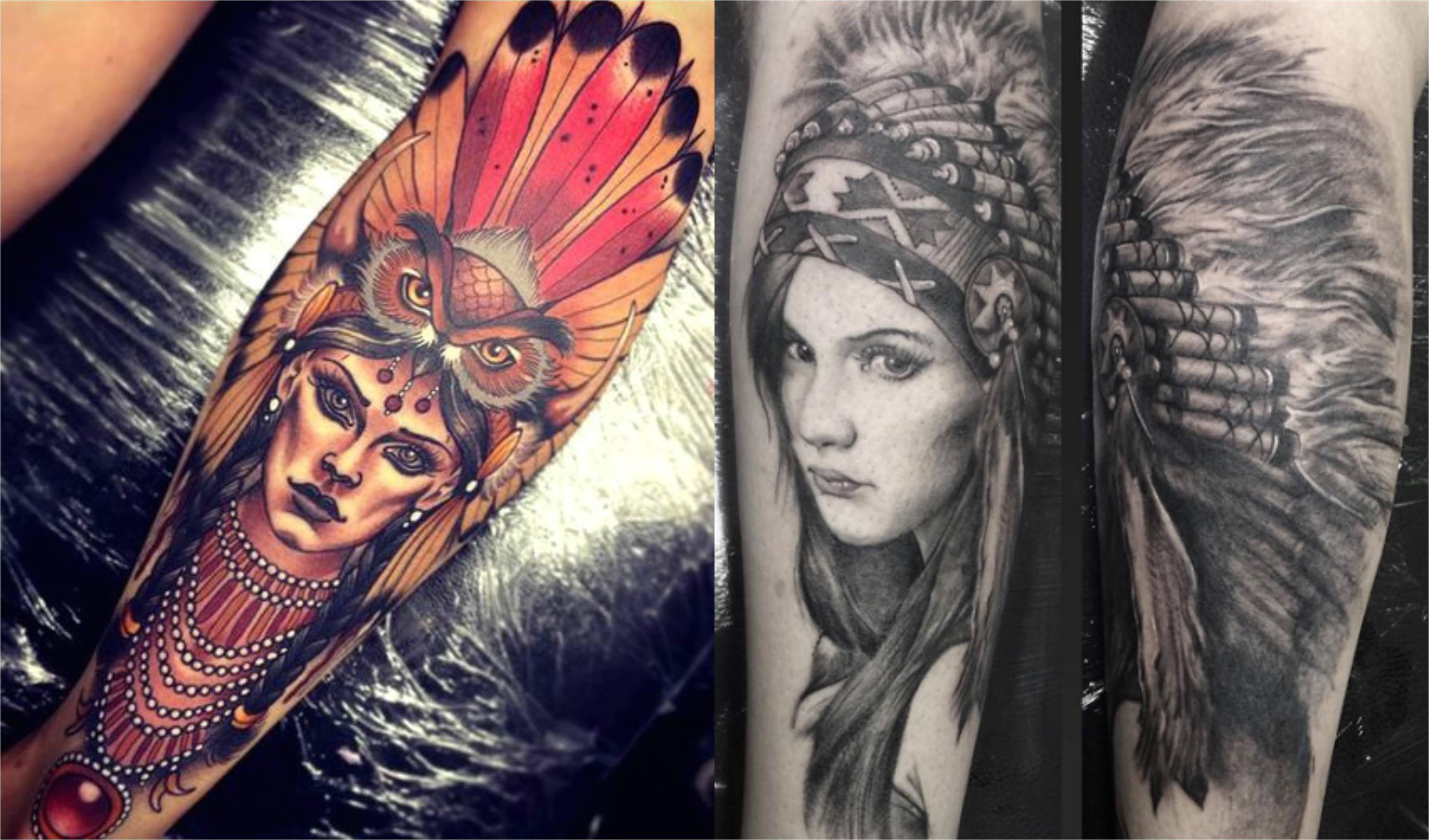 Tatouage Amerin n Idea Femme tatouage en Amérique du Nord sur le tatouage de la peau