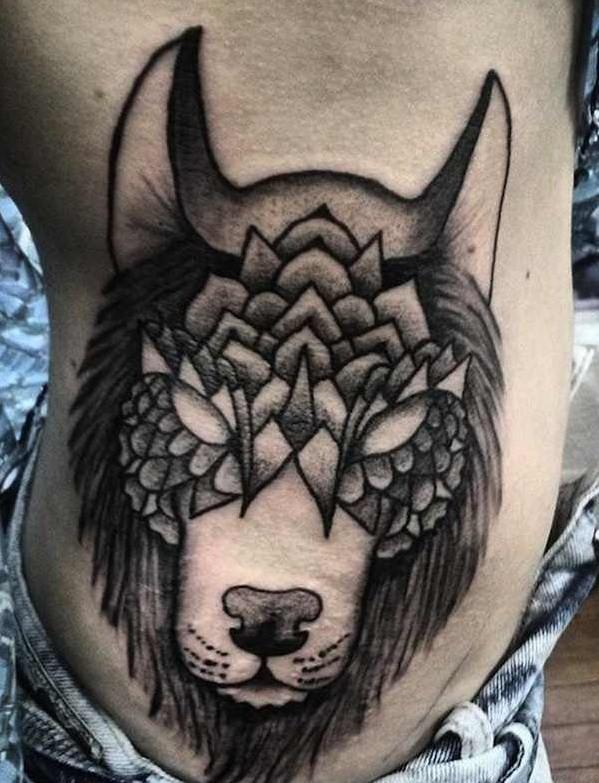 Meilleur tatouage de loup pour hurler sur la lune 82